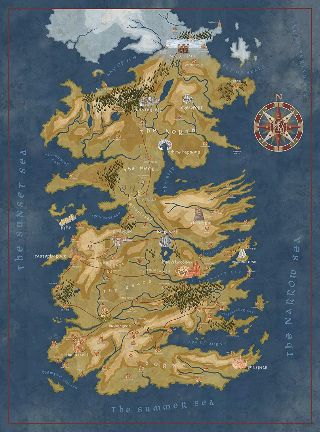 Game of Thrones Puzzles - The Seven Kingdoms of Westeros King Of Thrones Map on a clash of kings map, king sitting in throne room, king of towers map, river run condominiums map, king s landing throne room, kingdom clash of the kings map, dothraki on seven kingdoms map, king of thorns map, king of wisconsin map, from gulliver's travels map,