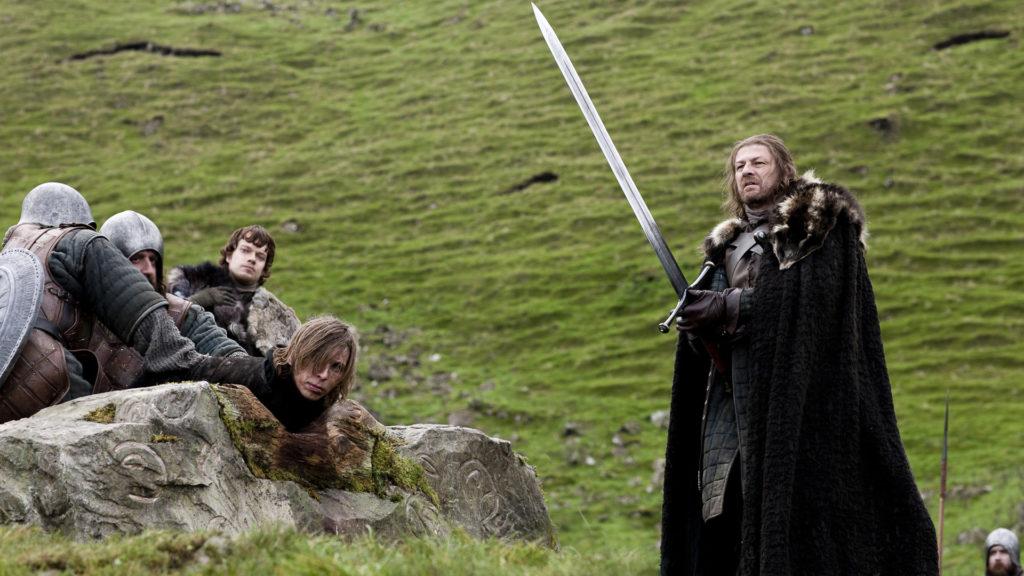 Eddard Stark executes a deserter