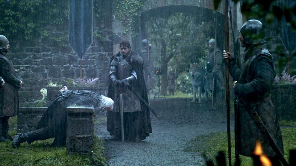 Robb Stark executes Rickard Karstark