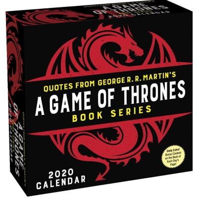 A Game of Thrones Quotes Calendar 2020