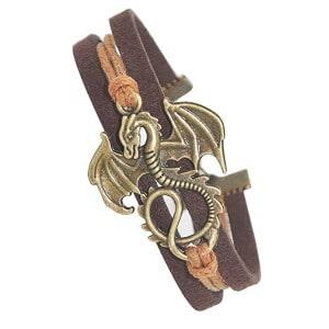 Daenerys Targayen dragon leather bracelet