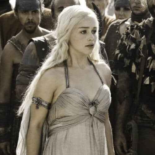 Daenerys Targayen white dress