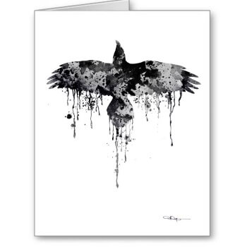 Game of Thrones Raven Christmas card