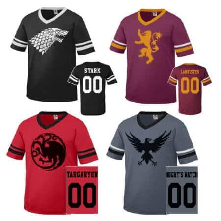 Game of Thrones Team Jerseys