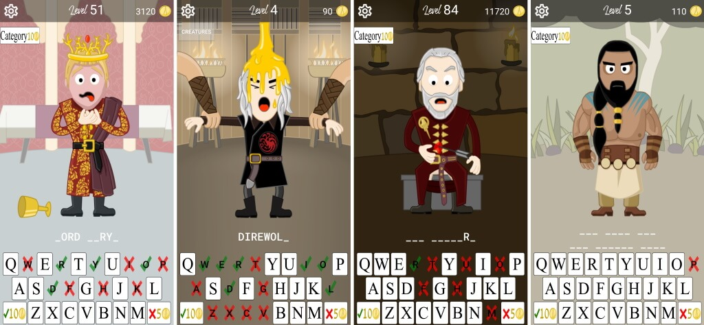 Hangman Game of Thrones Game