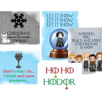 Hodor Christmas cards