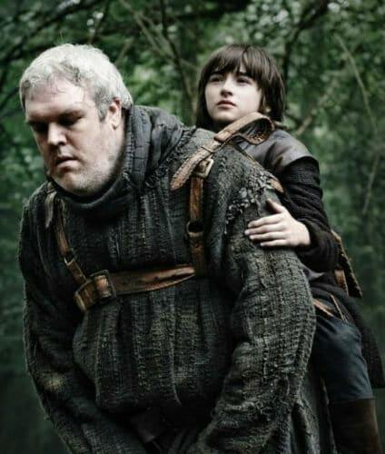 Hodor carrying Bran