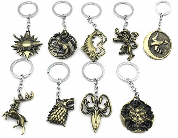 House Sigil Keychain Charms