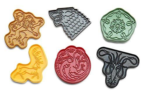 House Sigil Plastic Cookie Cutters Set