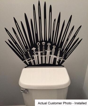 Iron Throne Toilet Decals