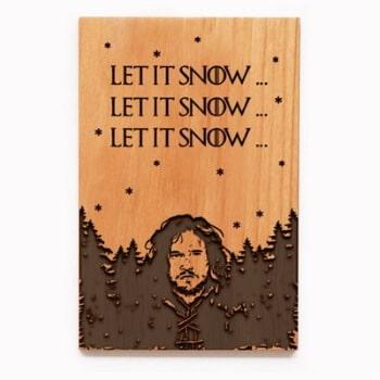 Jon Snow Christmas card 3