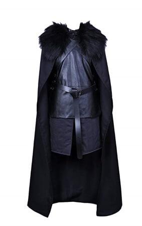 Jon Snow cape Crow costume