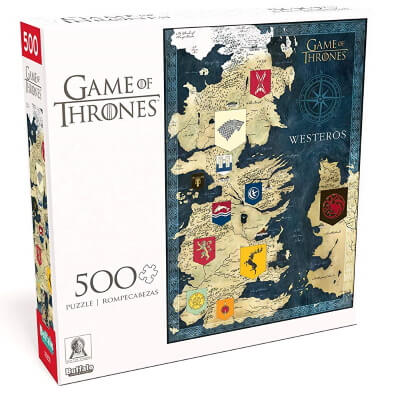 Map of Westeros - 500 Piece Jigsaw Puzzle