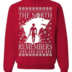 The north remembers ugly Christmas sweater