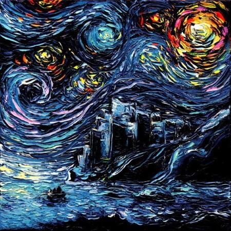 Van Gogh-ish Kings Landing