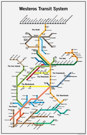 westeros transit system poster
