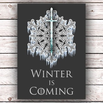winter is coming Christmas card