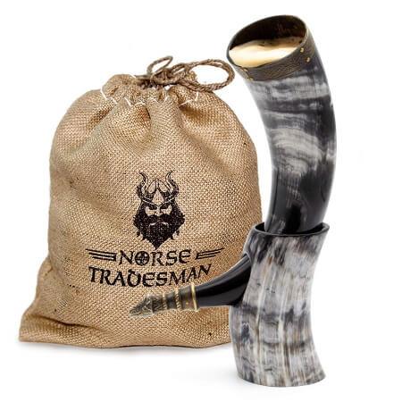 Genuine Ox-Horn Viking Drinking Horn 1