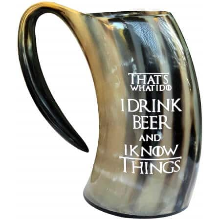 Thats What I Do I Drink Beer & I Know Things Viking Drinking Horn