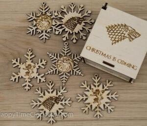 Wooden GOT Ornaments