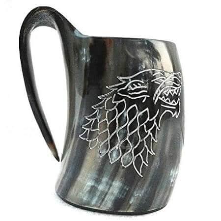 stark house viking drinking horn mug