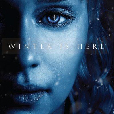 Daenerys Targaryen Winter is Here Poster