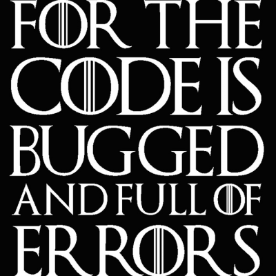 For the code is bugged and full of errors
