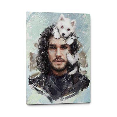 Jon Snow With Cub Ghost