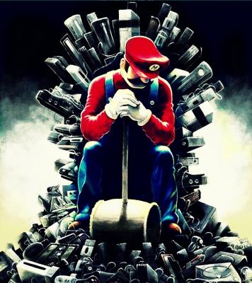 Super Mario on Consoles Thrones