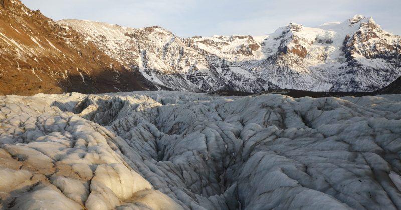 glacier of Svínafellsjökull